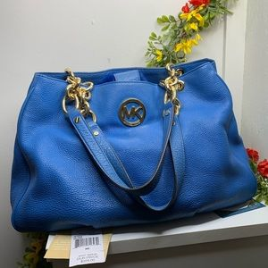 Michael Kors Fulton Chain Large Leather Tote